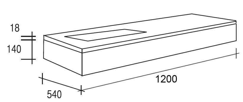 Meuble salle de bain ch ne 120 cm plan composite plano for Meuble 80x30