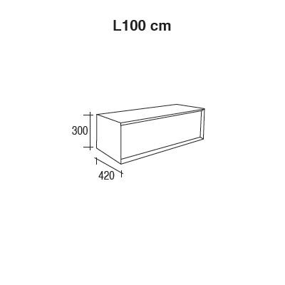 Sch ma technique meuble de rangement dokka 100cm for Meuble 80x30