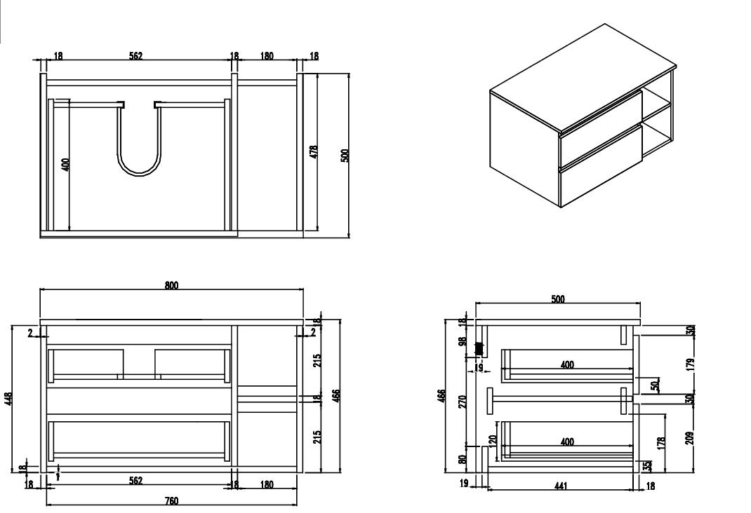 Meuble salle de bain ch ne fonc 80 cm 2 tiroirs terra for Meuble 80 cm de hauteur