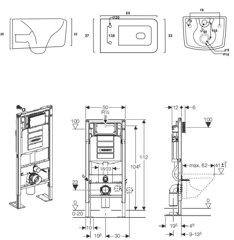 robinet de salle de bain grohe schma technique pack wc tozza bati support - Schema Montage Robinet Grohe
