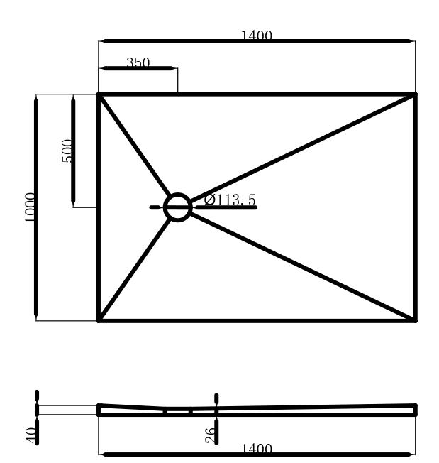 Schéma technique Florida 100x40
