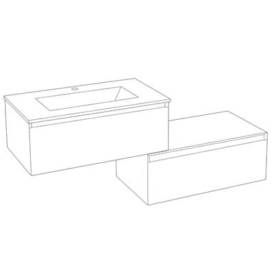 Cuenca meuble configurable 4 dimensions 3 coloris - Configuration salle de bain ...