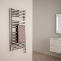 S che serviettes electrique chrom neve for Miroir 40x70