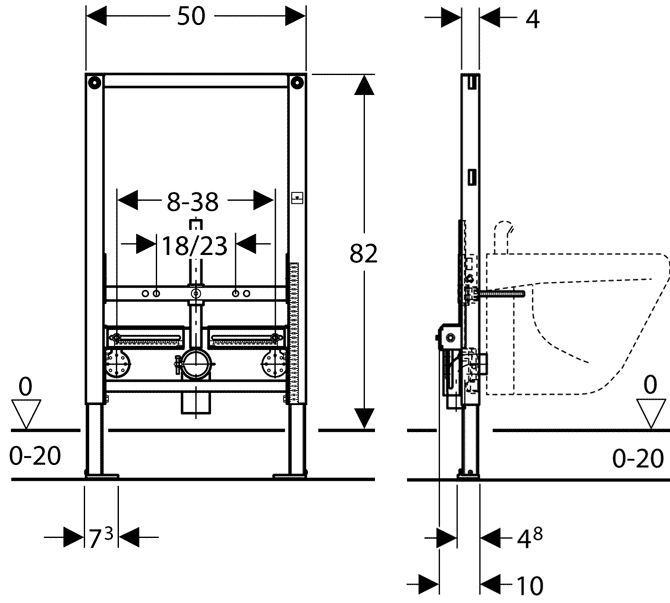 TECHNICAL DRAWING schema-batit geberit-duofix