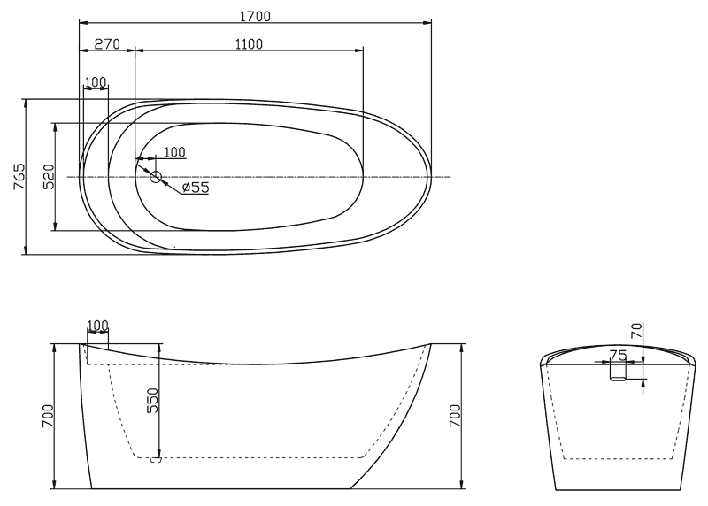 TECHNICAL DRAWING Image-Technique-HY519-1700MM-D