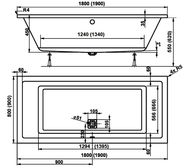TECHNICAL DRAWING Image-Technique-VPBA180CAV-180