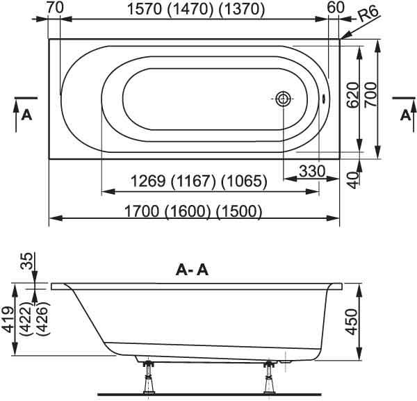TECHNICAL DRAWING Image-Technique-VPBA157KAS-150