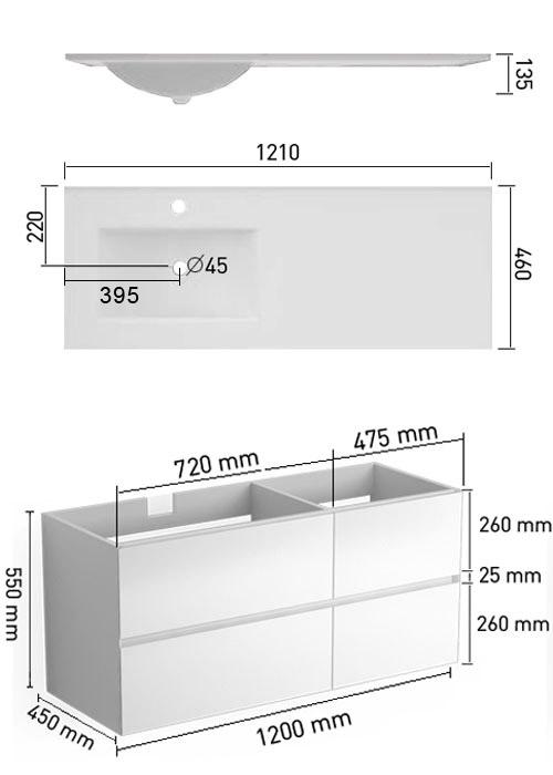 TECHNICAL DRAWING schema-Kyoto-121-vasque-G
