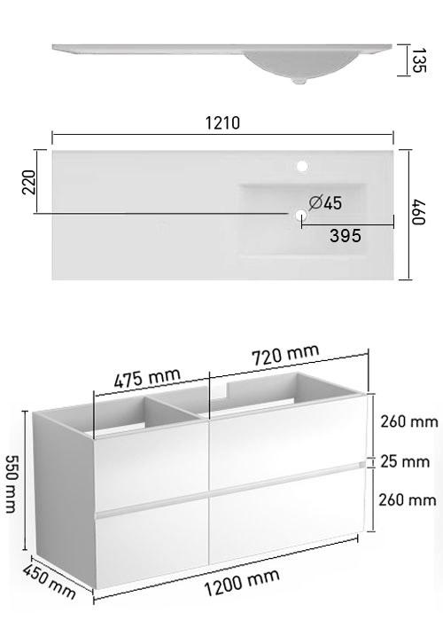 TECHNICAL DRAWING schema-Kyoto-121-vasque-D