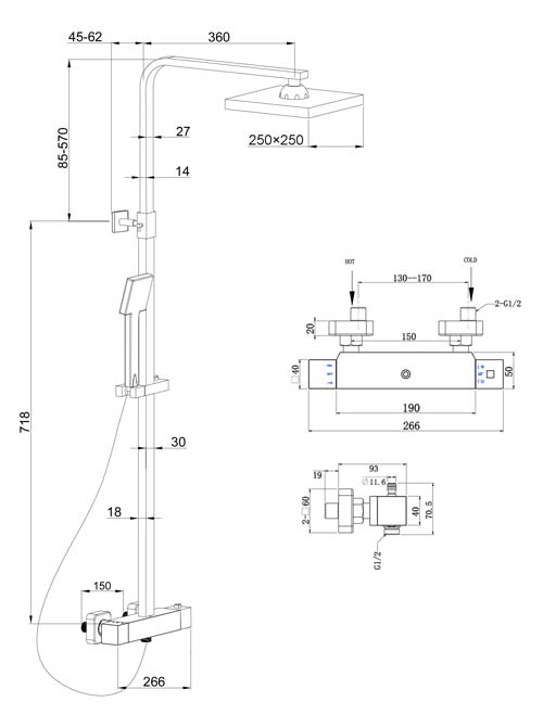 TECHNICAL DRAWING Colonne-Qube-schema