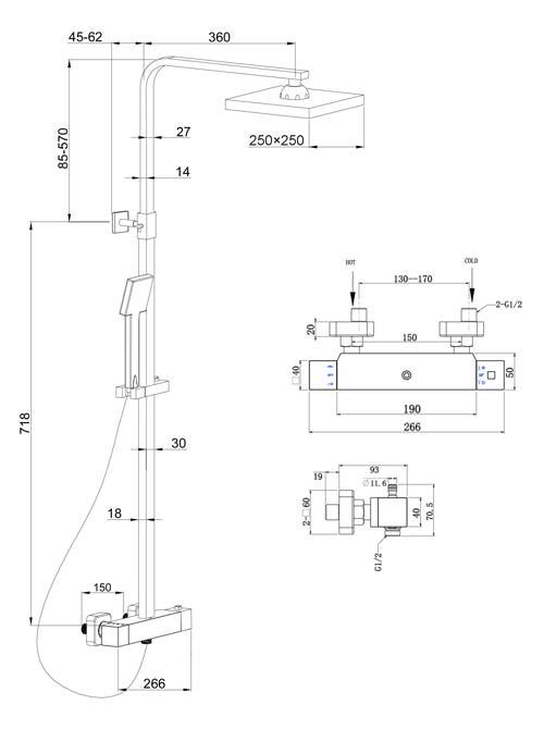 TECHNICAL DRAWING Colonne-Qube-schema