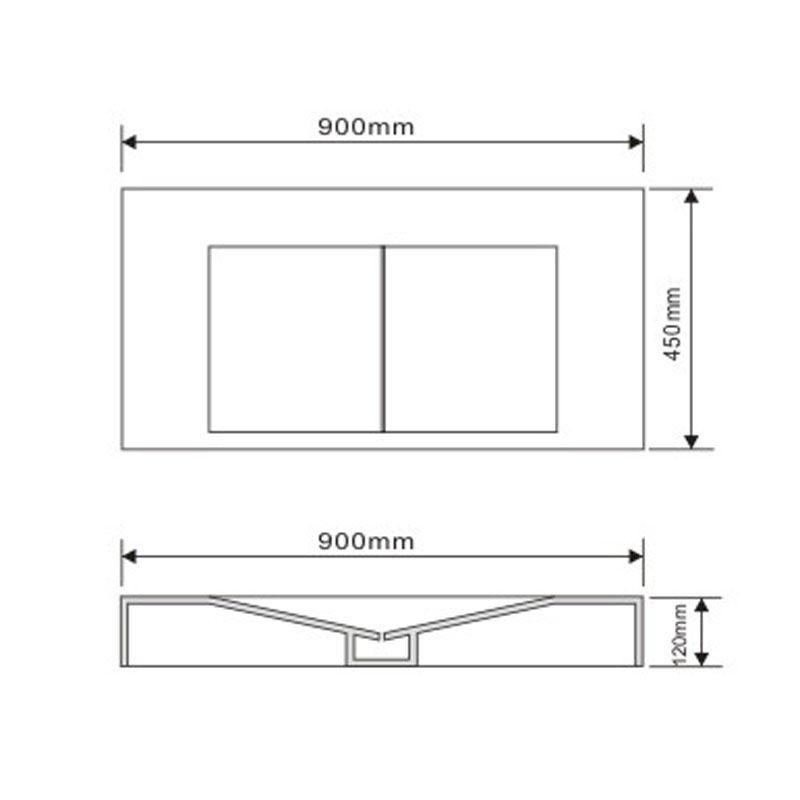 TECHNICAL DRAWING Schéma plan minéral 90x45 cm