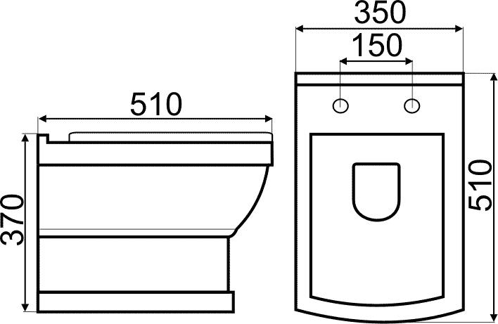 TECHNICAL DRAWING tech-WC-suspendu-Josephine