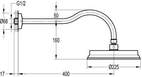 TECHNICAL DRAWING schéma-tete de douche