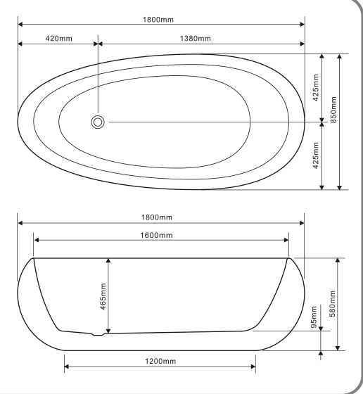 TECHNICAL DRAWING Baignoire-bowl-îlot