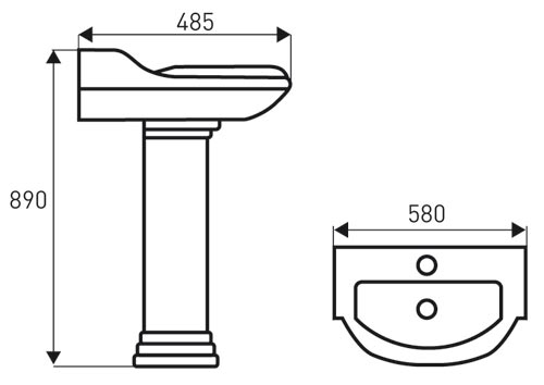 TECHNICAL DRAWING schéma-lavabo-laetitia