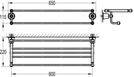 TECHNICAL DRAWING schéma rack liberty
