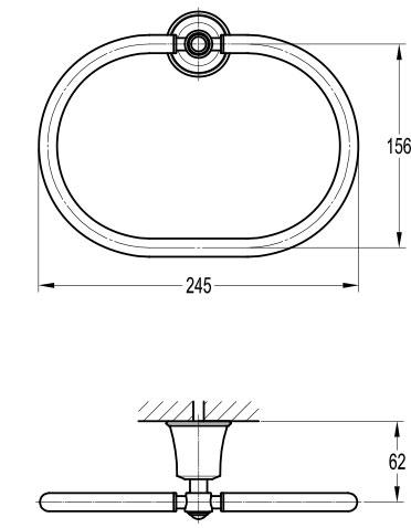 TECHNICAL DRAWING schéma Porte-serviettes, Liberty