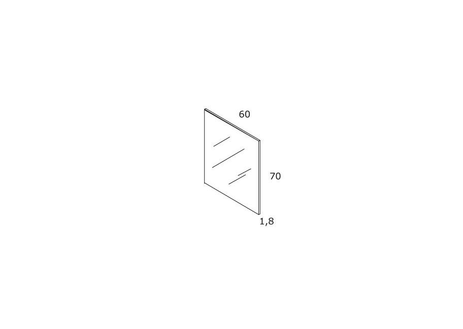 TECHNICAL DRAWING Schéma Miroir 60x70 cubo