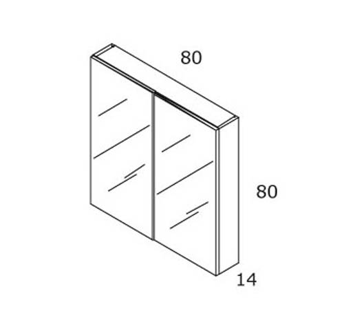 TECHNICAL DRAWING schema armoire britannia 80cm