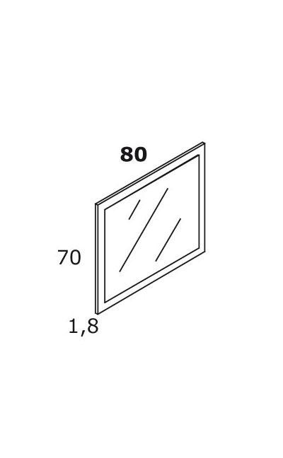 TECHNICAL DRAWING schéma, miroir britannia 80x70cm