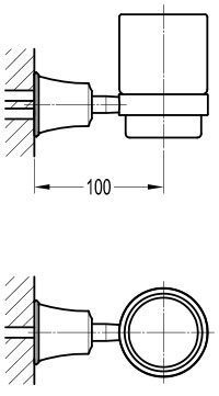 TECHNICAL DRAWING shéma porte verre traité cuivre
