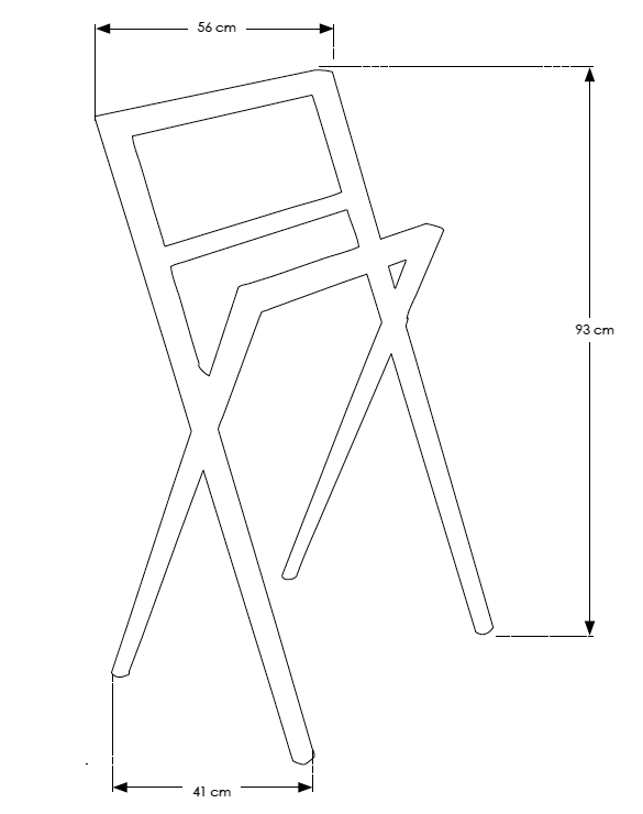 TECHNICAL DRAWING tech-Porte-serviette-Teck-Compas
