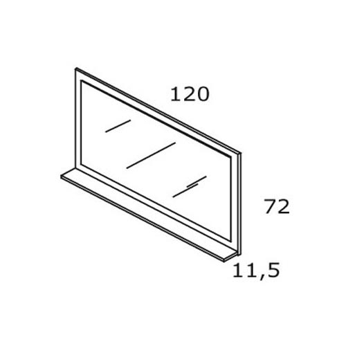 TECHNICAL DRAWING schéma miroir roble 120x72