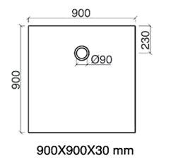 TECHNICAL DRAWING AOB9090-tech