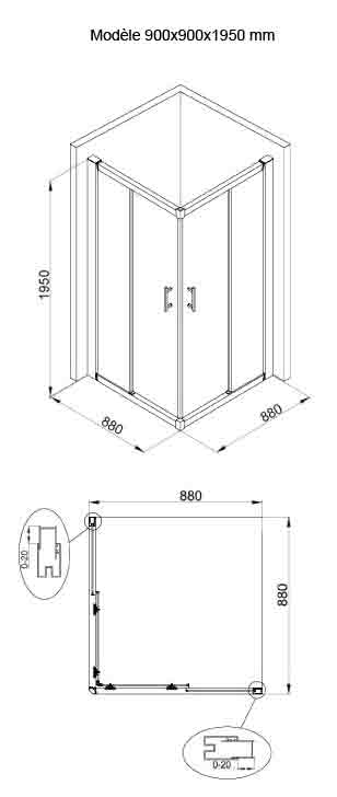 TECHNICAL DRAWING MAC90X90cm
