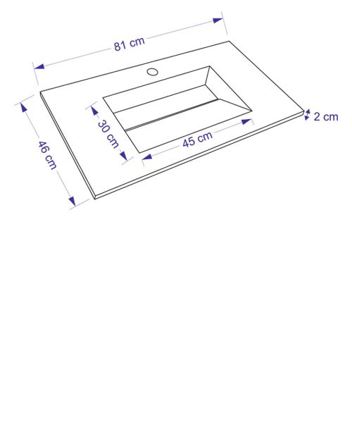 TECHNICAL DRAWING Schéma meuble bois cuenca 81cm