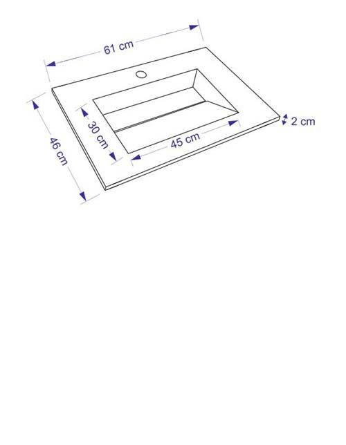TECHNICAL DRAWING schema meuble Cordoue 61cm