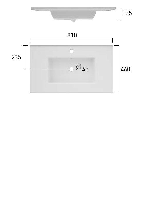 TECHNICAL DRAWING Schéma meuble.C Cordoue 81cm