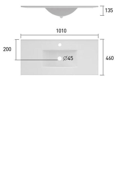 TECHNICAL DRAWING schéma meuble.C Cordoue 101cm