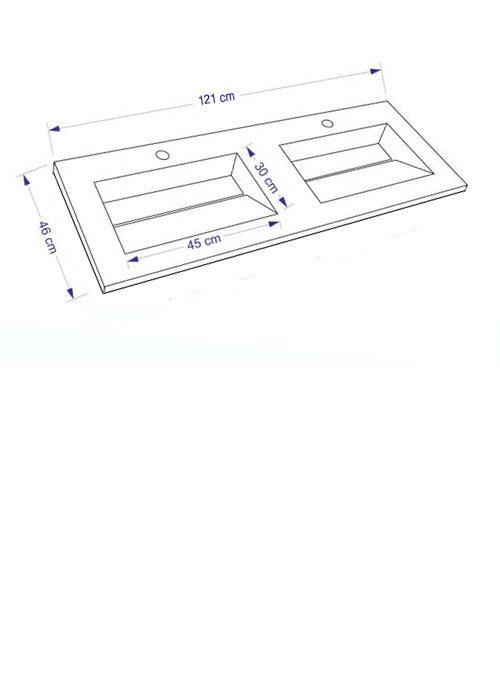 TECHNICAL DRAWING Schéma meuble.P double.V 121cm
