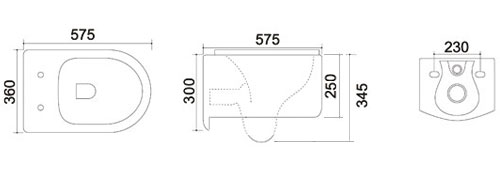TECHNICAL DRAWING schema-wc-orba-rimless