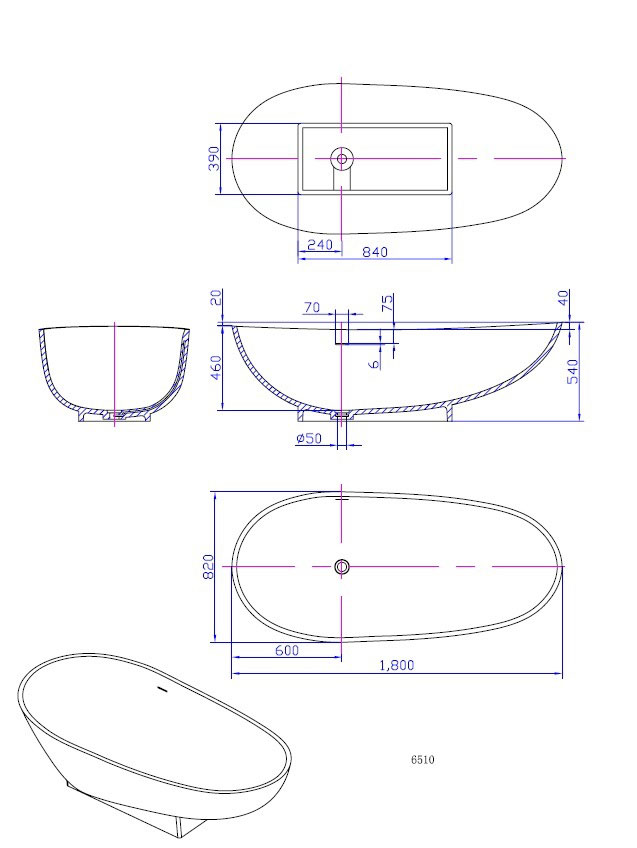 TECHNICAL DRAWING WD6510 technique