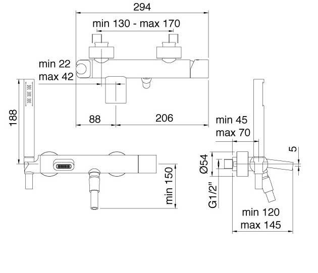 TECHNICAL DRAWING fiche technique 5400