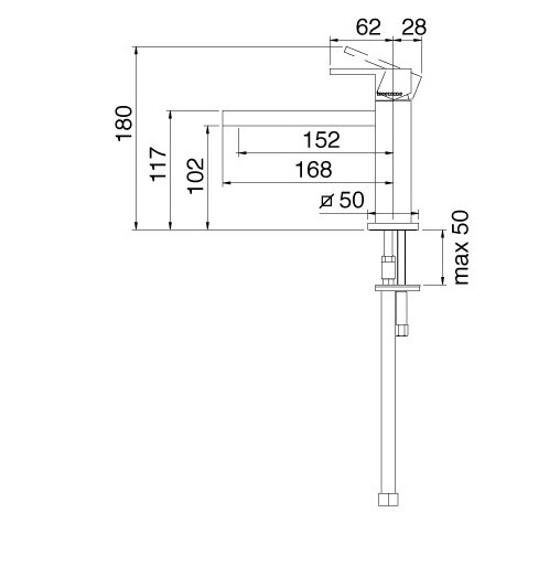TECHNICAL DRAWING schéma 5611CL 168mm