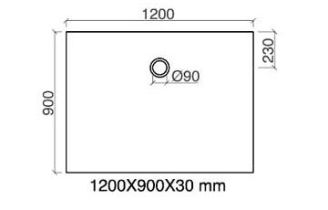 TECHNICAL DRAWING Arone120-rectangle-technique