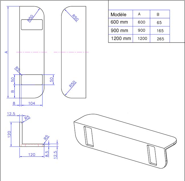 TECHNICAL DRAWING etagere-schema