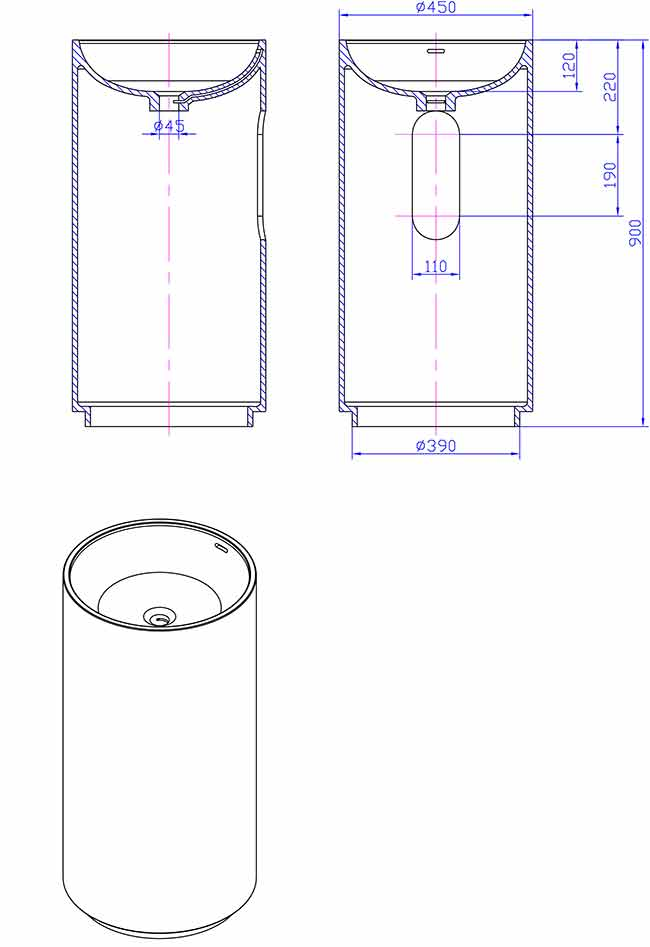 TECHNICAL DRAWING Schema-lavabo-illumina