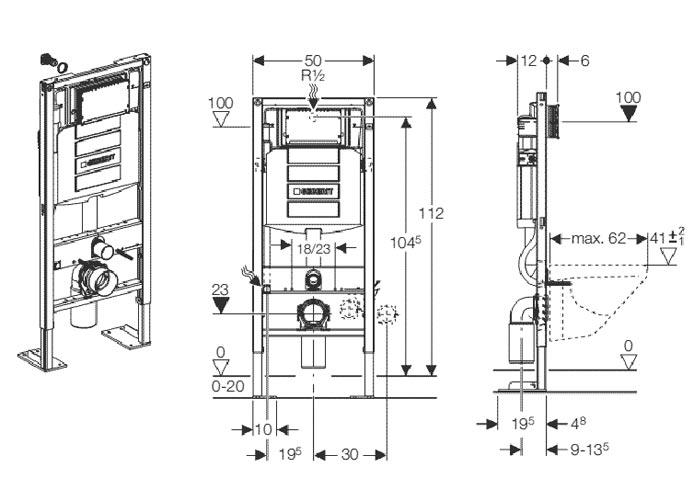 TECHNICAL DRAWING schema-bati-geberit-duofix