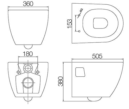 TECHNICAL DRAWING Schema WC Nautic
