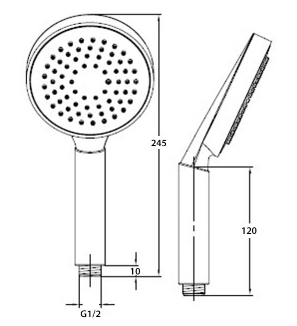 TECHNICAL DRAWING Schéma douchette 552