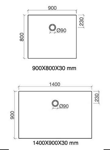 TECHNICAL DRAWING schema-arone-90x80-et-140x90cm