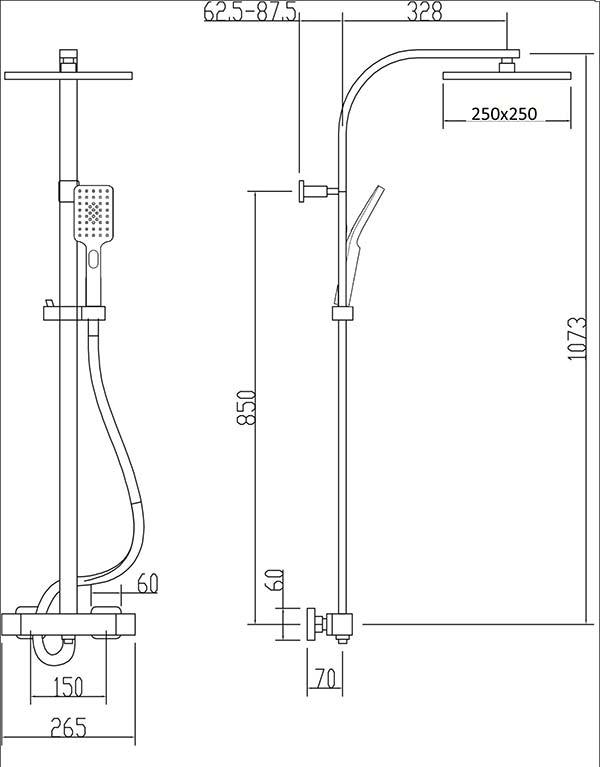 TECHNICAL DRAWING Schema-colonne-douche-Qube-VM13