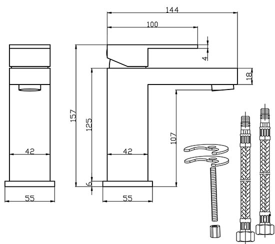 TECHNICAL DRAWING schema-mitigeur-lavabo-Sarre
