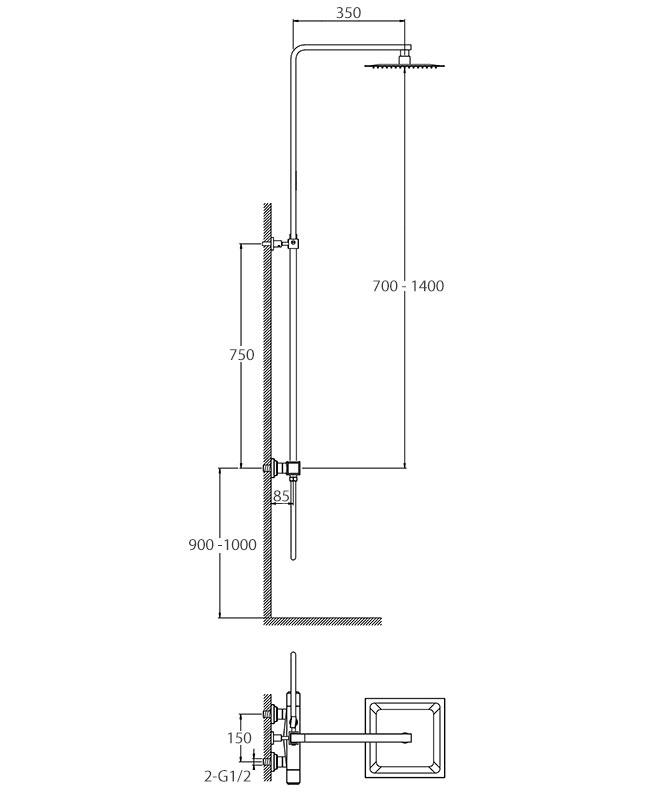 TECHNICAL DRAWING schéma colonne concorde