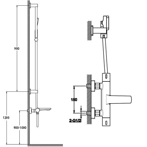 TECHNICAL DRAWING Schéma SD-128-7100